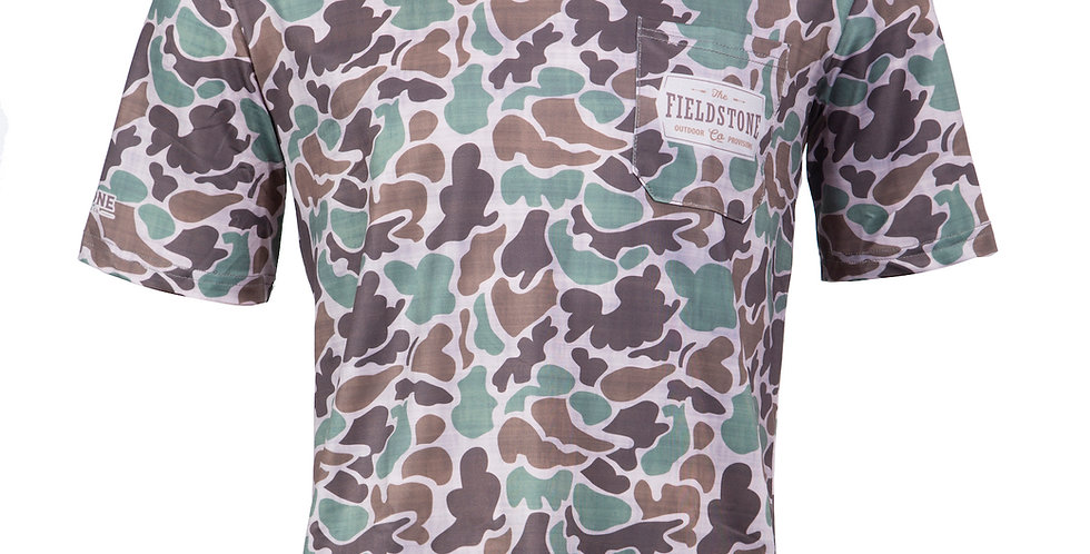 Dry-fit Pocketed Short Sleeve Camo