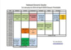 Timetable 1st January to 23rd of April 2