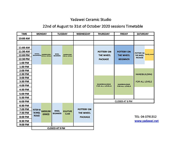 Sessions Timetable Autumn 2020 revised.j