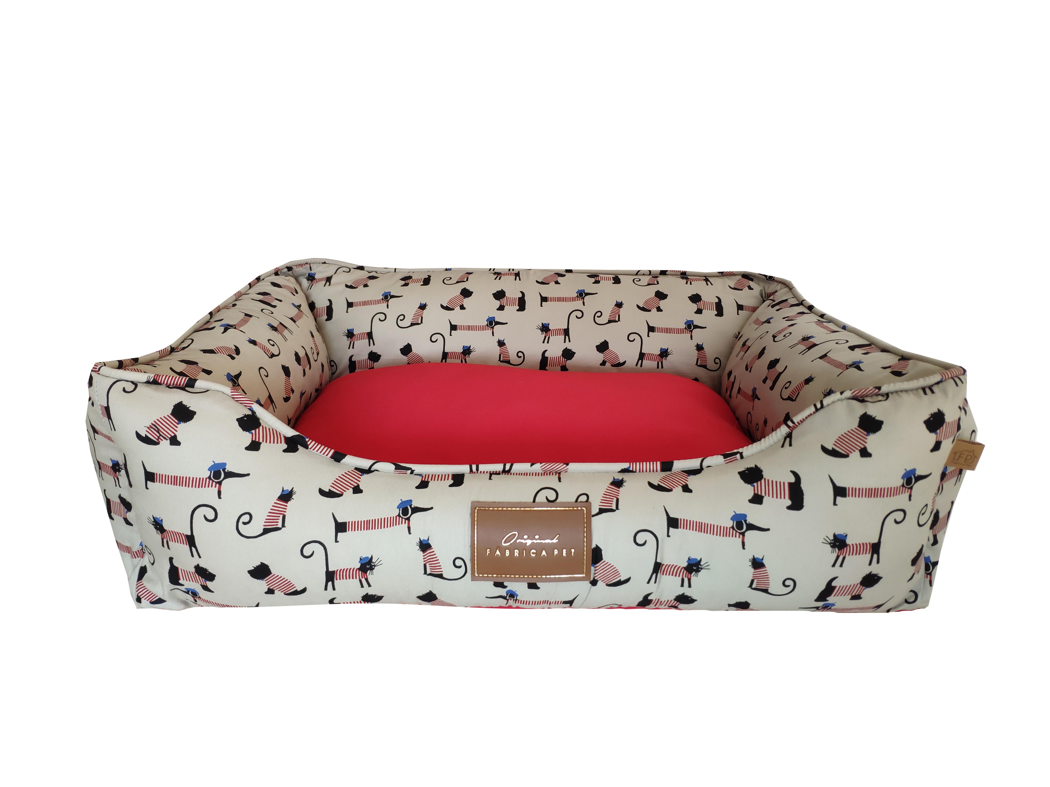cama bistro vermelha frente