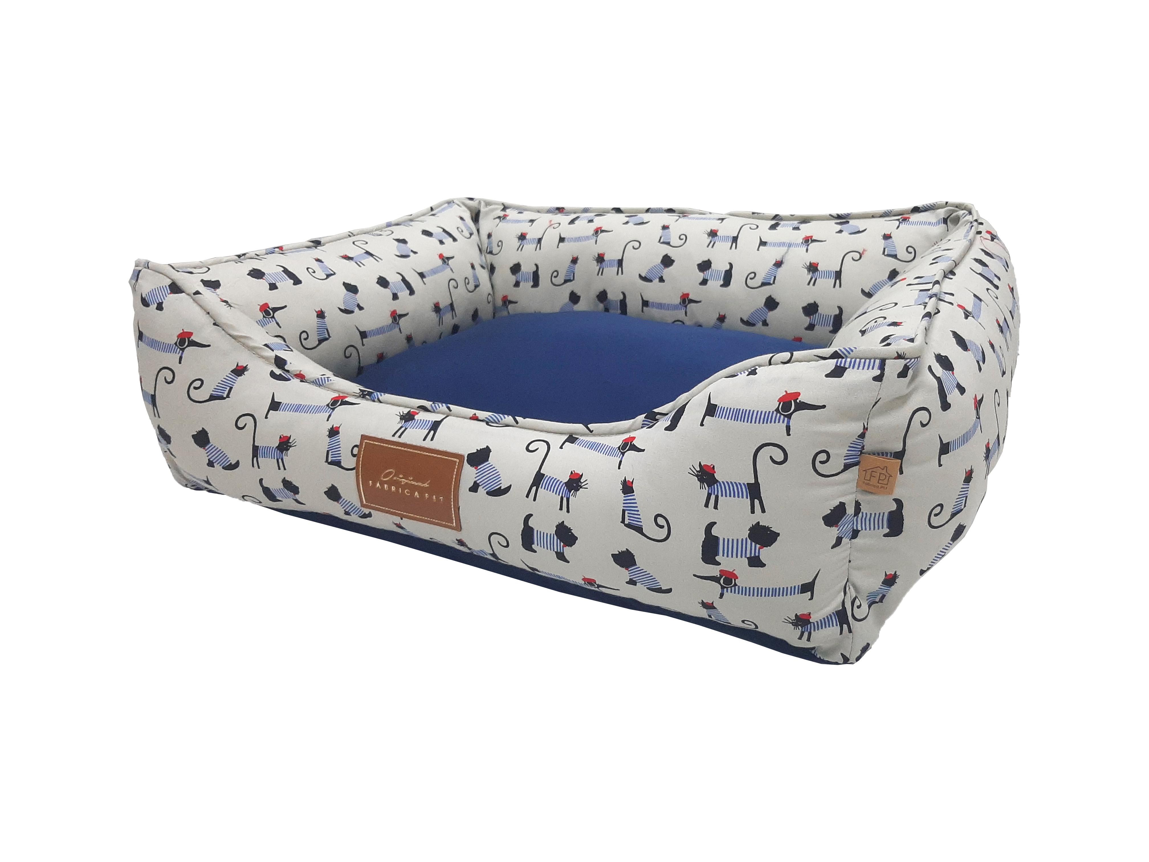 cama bistro azul lado