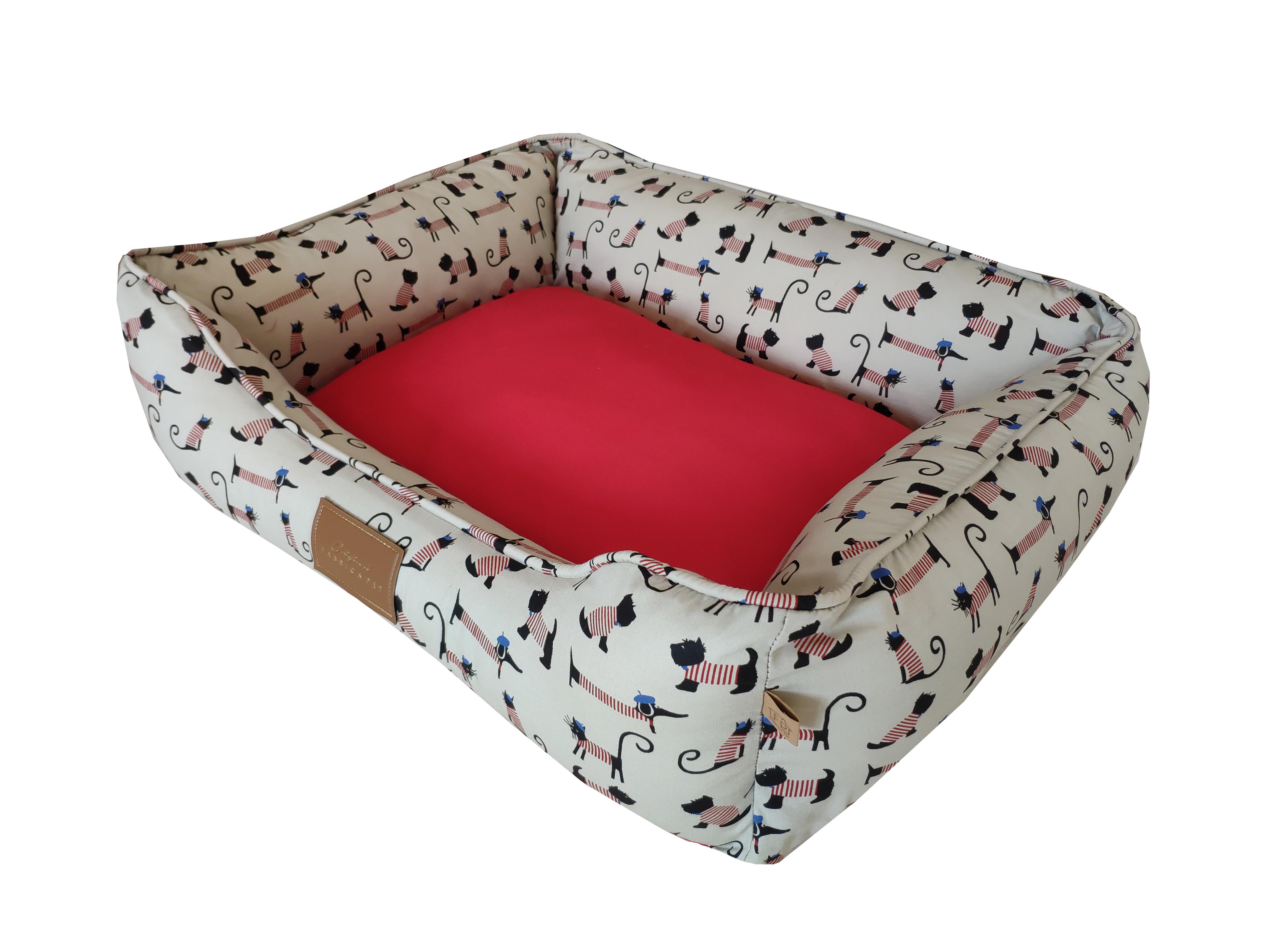 cama bistro vermelha