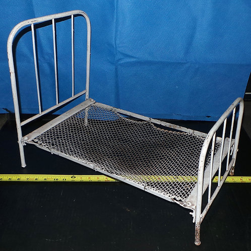 Early 1900s Wrought Iron Doll Bed
