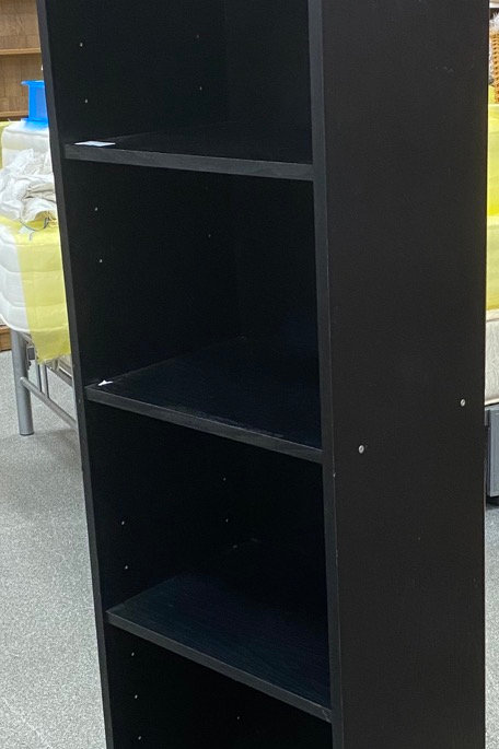 Black Thin Shelved Unit (SS Dine 43 BB)