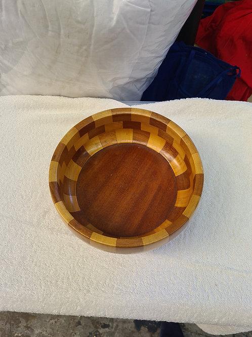 Large wooden bowl, Cambridge Ware (Q)