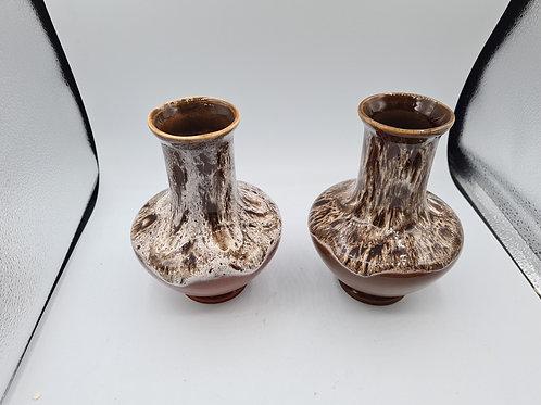 Vintage Kingston pottery x 2 vases (X2)