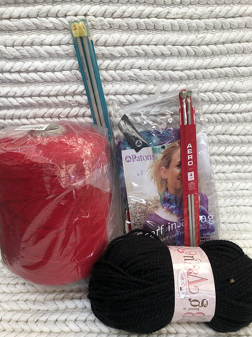Knitting assorted items (H1)