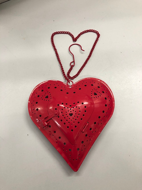 Metallic Love Heart Candle Holder (N1)