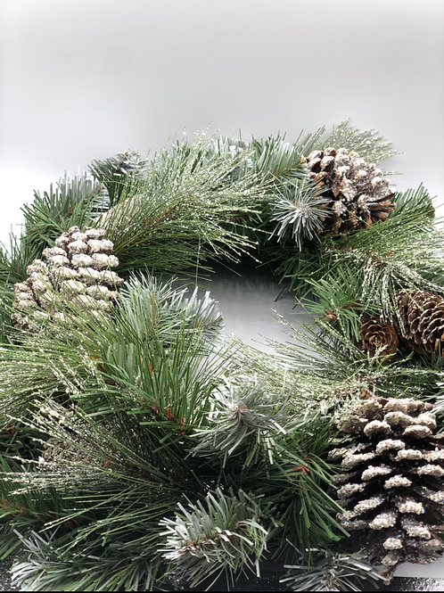 Frosted Christmas Wreath (XMAS1)
