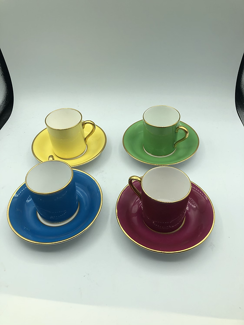 Tuscan English bone China cup and saucer (set of 4) (A1)