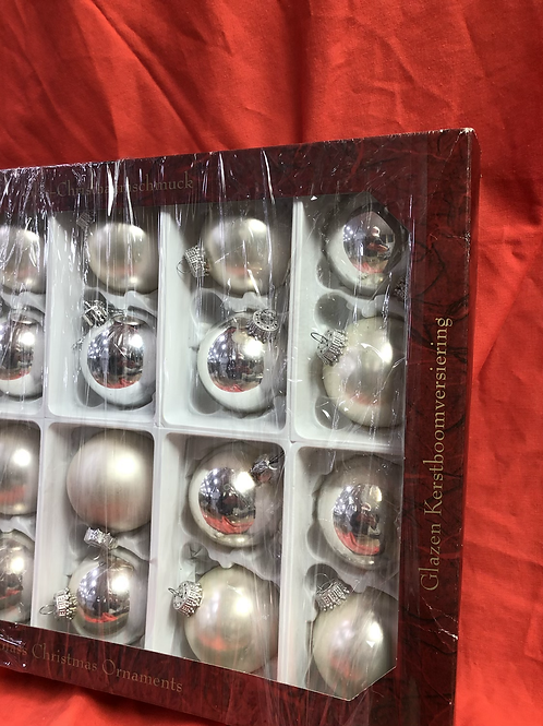 German glass silver and champagne baubles (XMAS9)