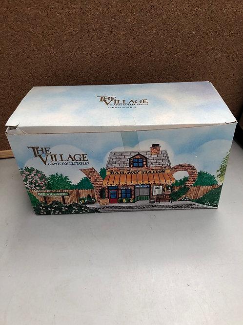 The village teapot- railway station (S)