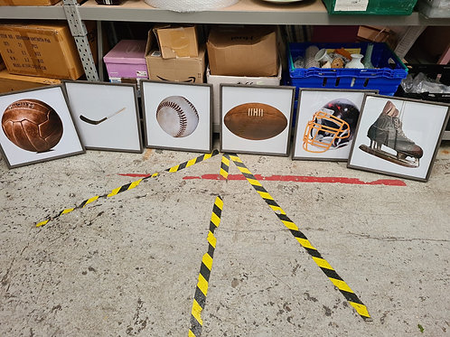 6 x American sports photo prints (misc)