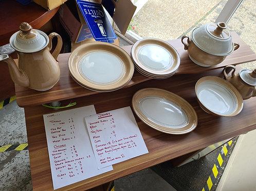 Large full denby dinner service list if items shown (misc)