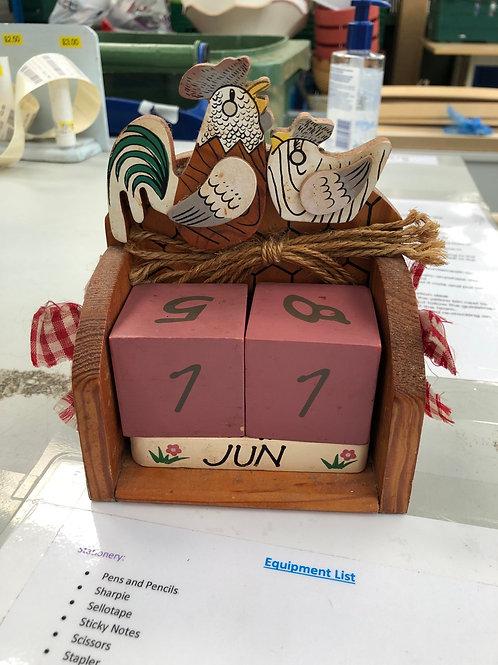 Wooden Calendar (Y)