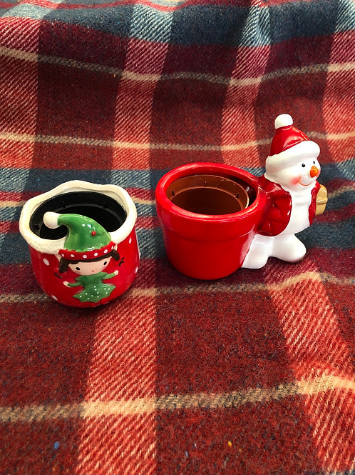 Mini Plant pot holders (XMAS10)