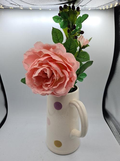 Jug and faux flowers (N1)