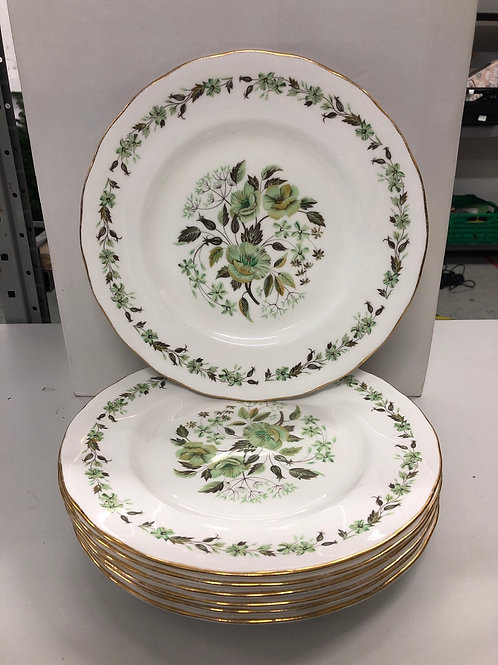 Floral decorative 7 x dinner plates (R1)