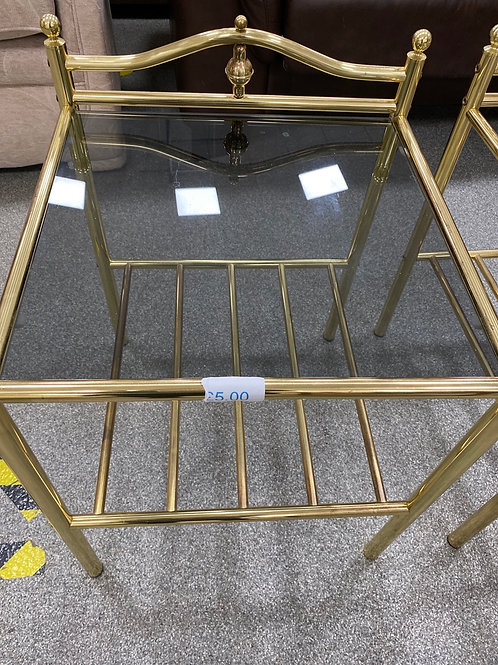 Side table with smoky glass top (SS bed 12)