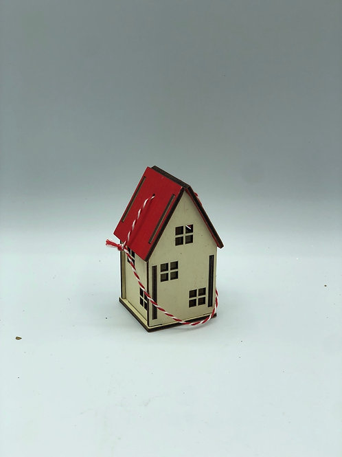 Wooden House Bauble (XMAS2)