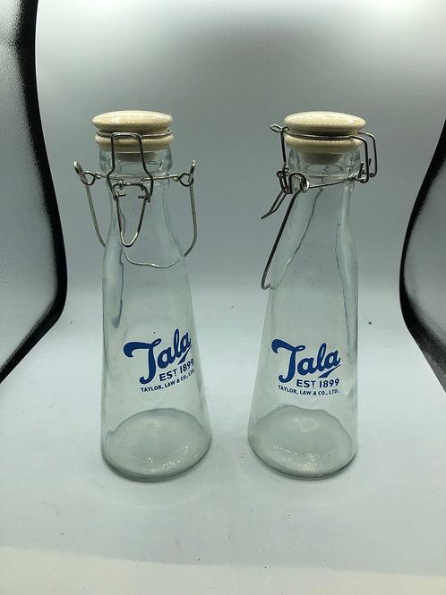 2 vintage glass bottles (F)
