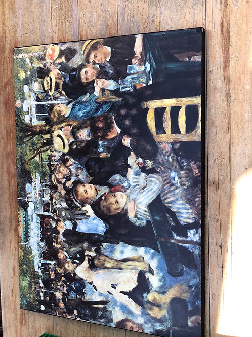 Picture on wooden frame