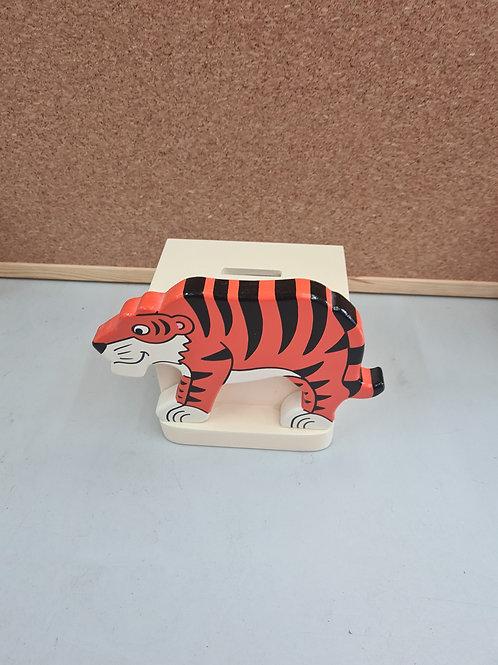 Tiger wooden money box (F1)