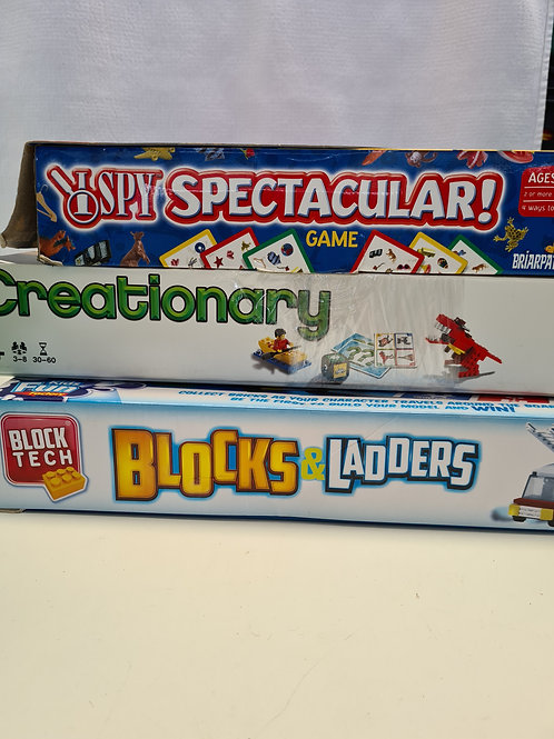 Pack of 3 games