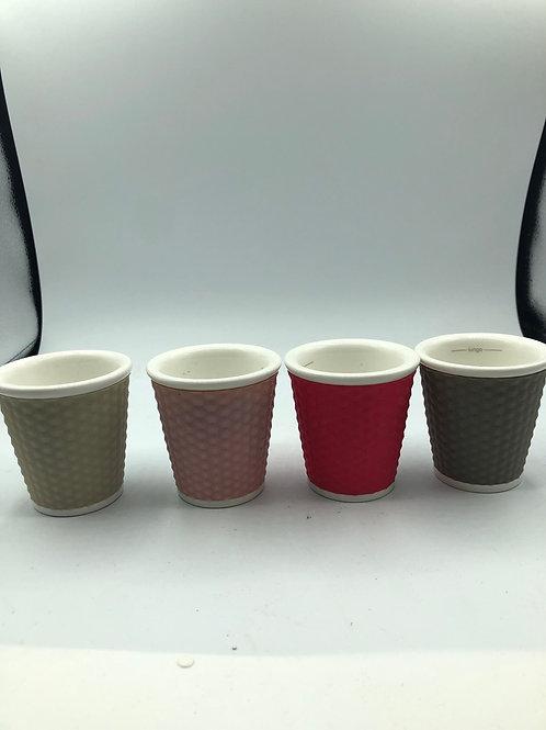 Porcelain Espresso cups with rubber outside (E1)