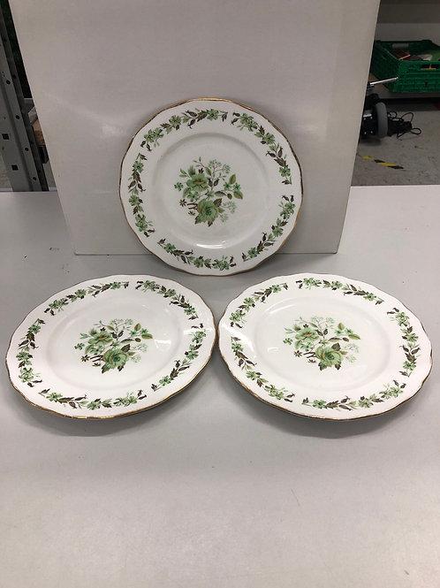 Floral decorative 3 x side plates (R1)