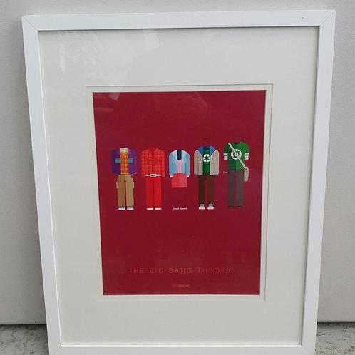 Framed Big Bang Theory poster (Misc)