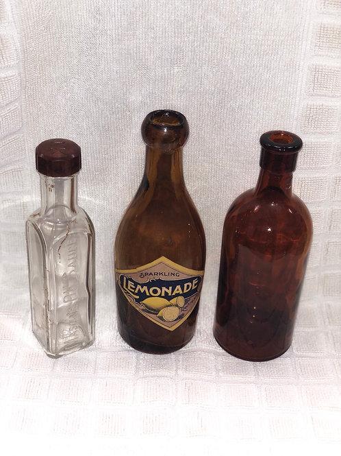 3 vintage bottles (L)