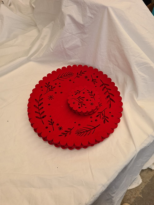 4 x felt placemat and coaster (F1)
