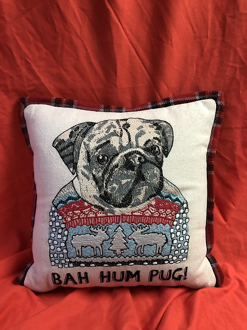 Bag Hum Pug cushion (XMAS9)