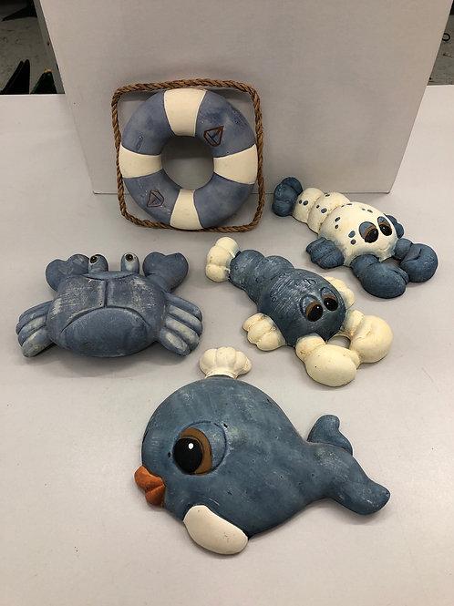 Seaside ceramic statue collection (Q1)