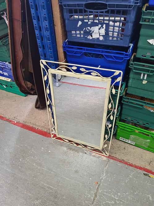 Metal framed mirror (0401)