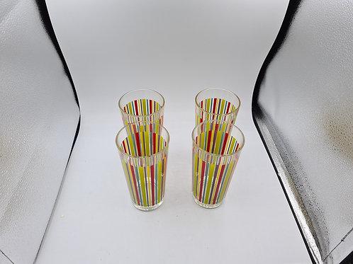 4 x striped tumblers (ES2)