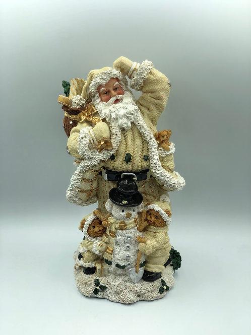 Cream Santa Statue (XMAS2)