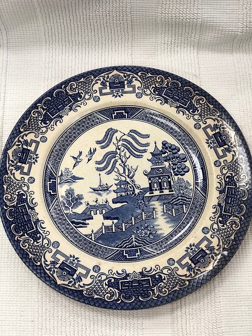 Ironstone old willow plate (I)