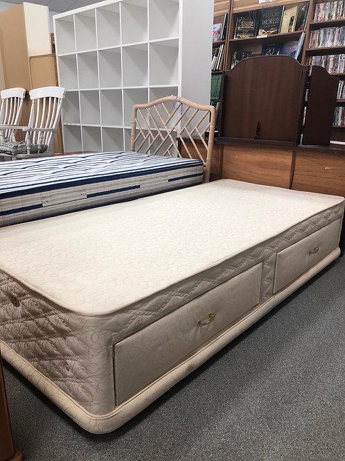 Single cream divan bed base (SS Bed 27 Divan)
