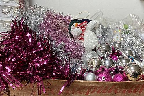 Pink/Silver Christmas Selection (SS Xmas 10 Pink/Silver)