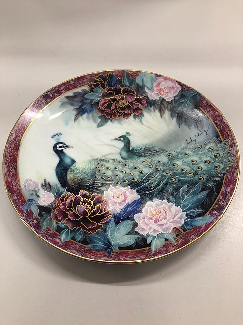 Limited Edition Lily Chang Peacock Plate (R1)