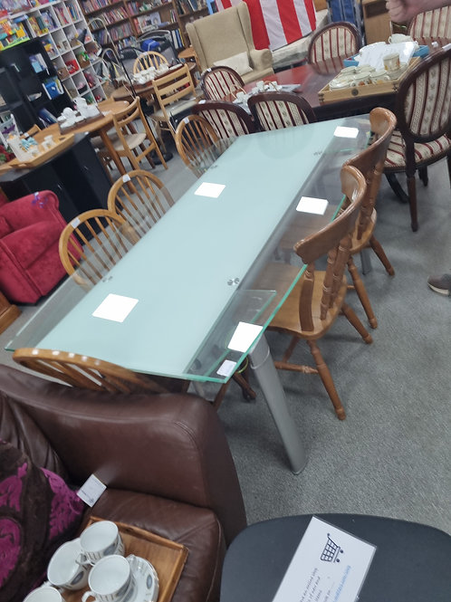 Exendable Glass Table (SS Dine 708DT)