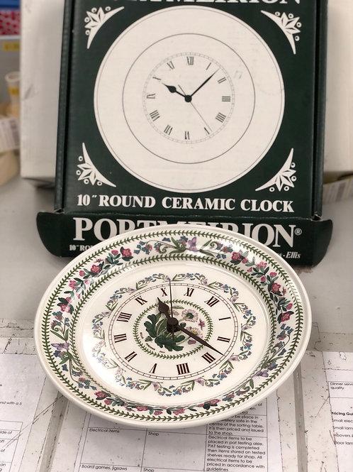 """Portmeiron Clock 10"""" (H)"""