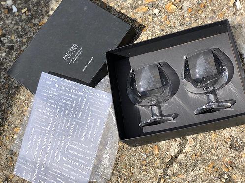 Palazzo pair of brandy glasses