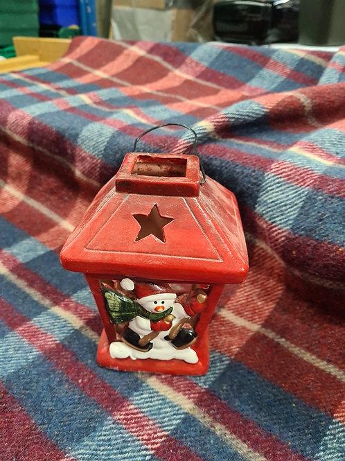 Ceramic tea light holder (xmas 13)