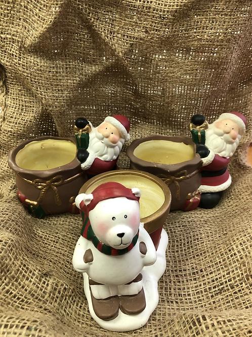 Set of 3 candle holders (XMAS8)