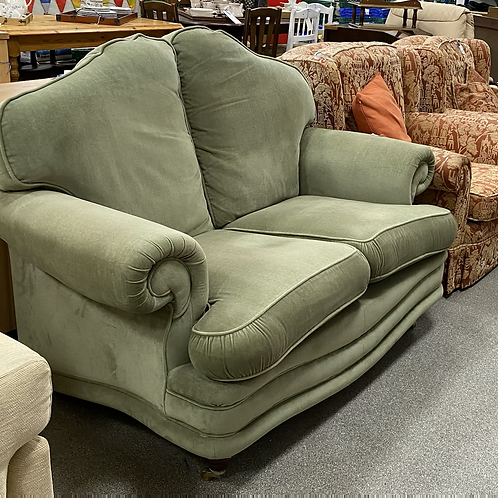 Sage green two seater sofa (SS dine 025 green)