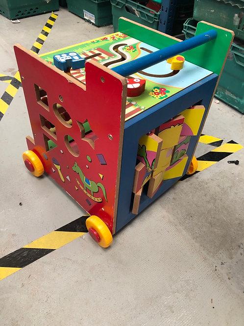 Children's Wooden Activity Trolley (0:3)