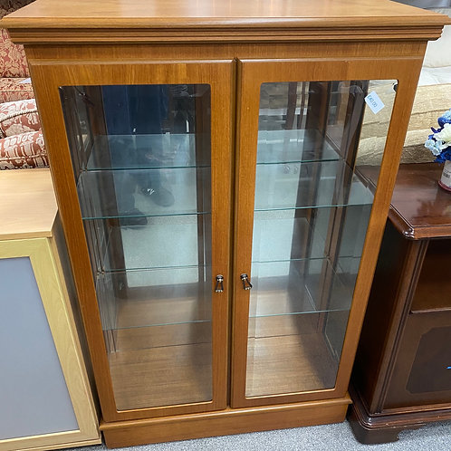 Glass Shelved Wooden Cabinet (SS Dine 84 CT)